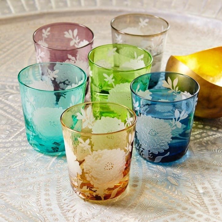 Peony Glasses Set Of Six