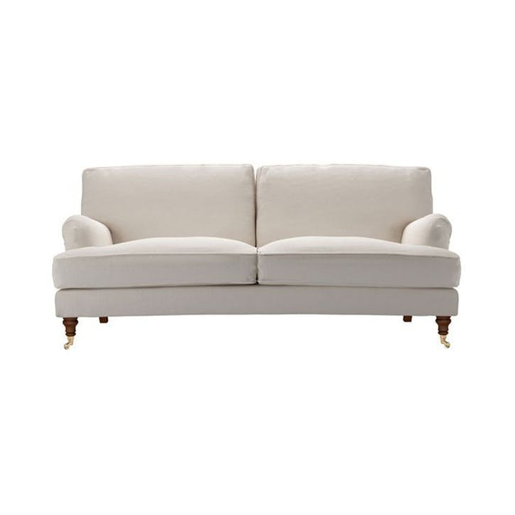 The Bluebell, Three Seat, Taupe Brushed Linen Cotton