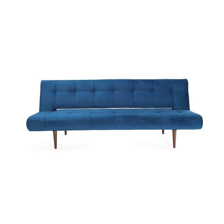 Hinge Luxe Sofa Bed Velvet Royal Blue