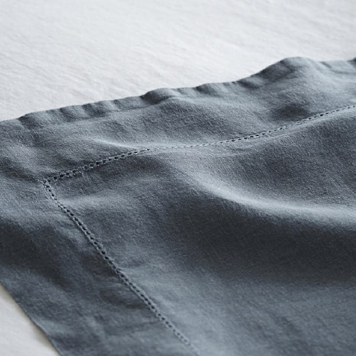 Flat Sheet, Double, Parisian Blue