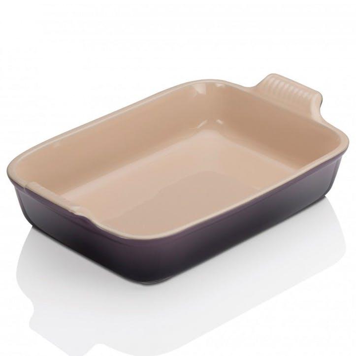 Stoneware Rectangular Dish - 32cm; Flint