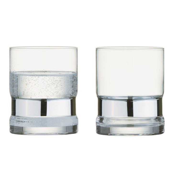 SoHo Silver Tumblers, Set of 2