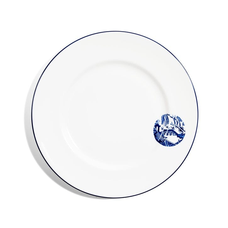 Details from Willow Dinner Plate, Cobalt