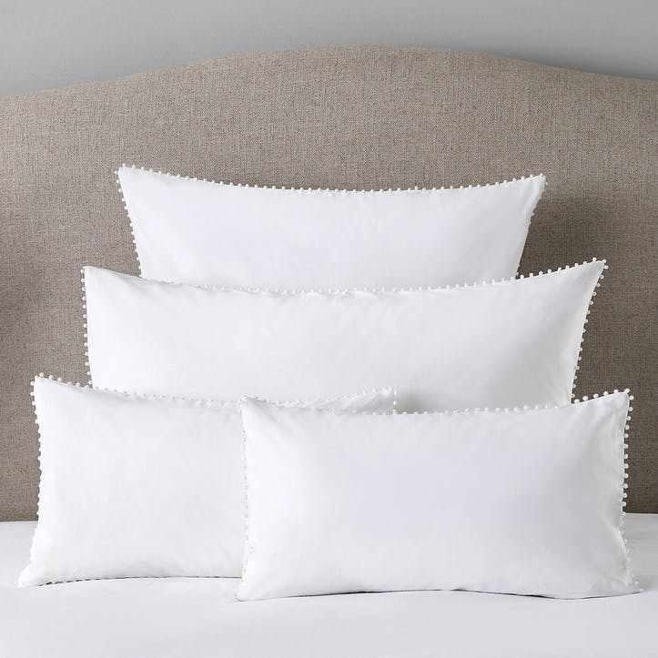 Avignon Housewife Pillowcase, Standard, White