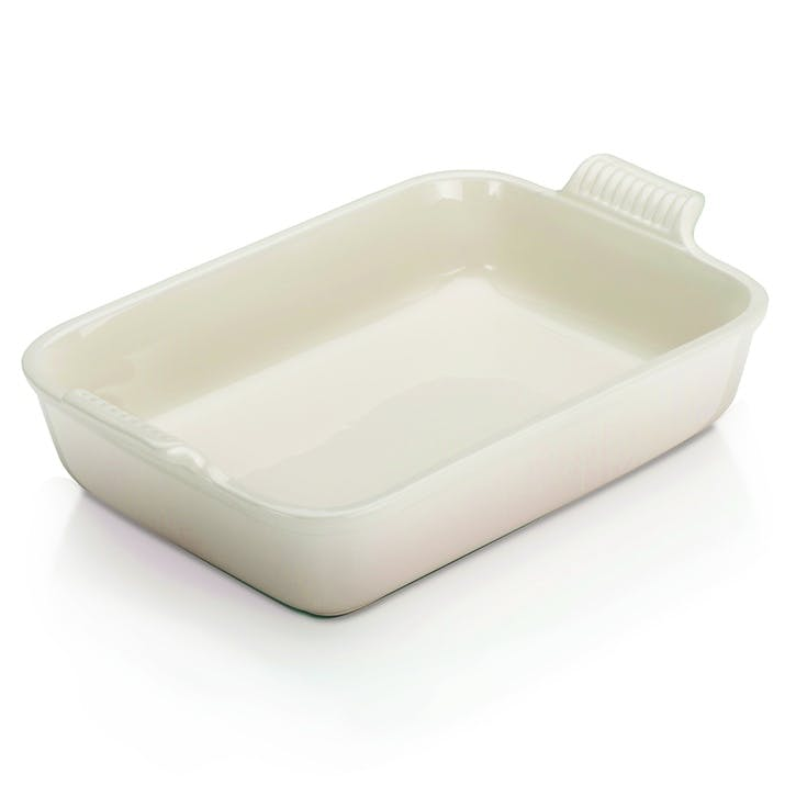 Stoneware Deep Rectangular Dish, 32cm, Meringue