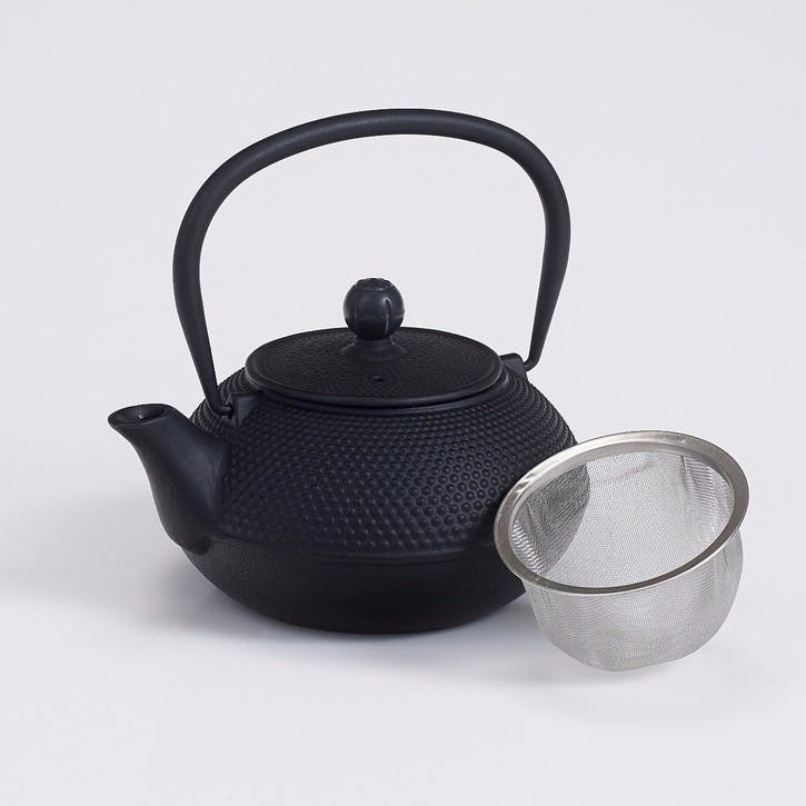Cast Iron Teapot, Black