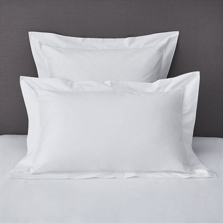 Savoy Oxford Pillowcase, Standard, White