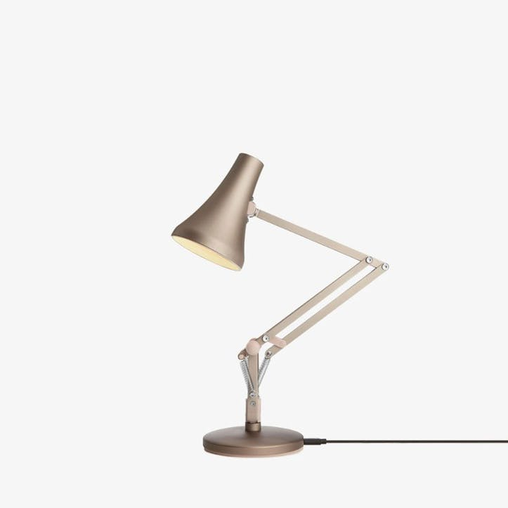 90 Mini Desk Lamp, Blush & Silver