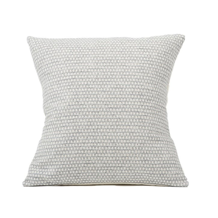 Classic Clarendon Cushion -  40cm; Linen On Grey