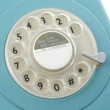 746 Rotary Telephone; Blue