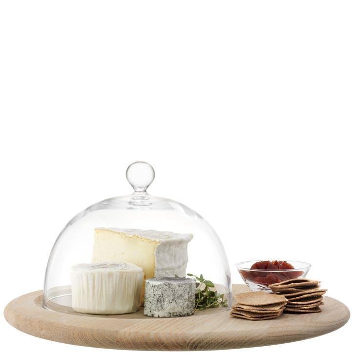 LSA Serve Cheese Set & Oak Base