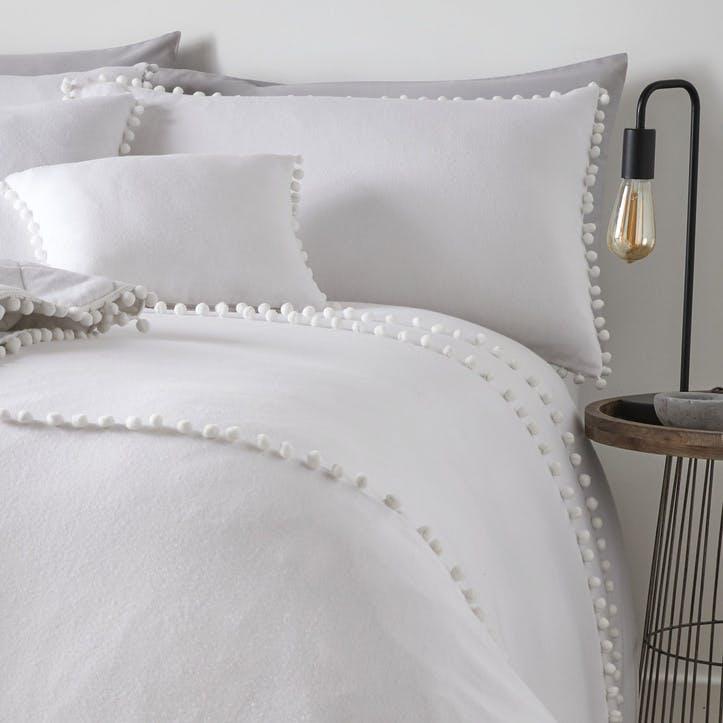 Paignton Bedding Set, Double, White