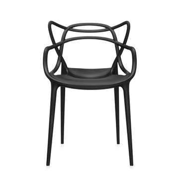 Masters, Pair of Dining Chairs, Black