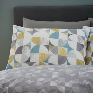 Retro Circles Double Bedding Set