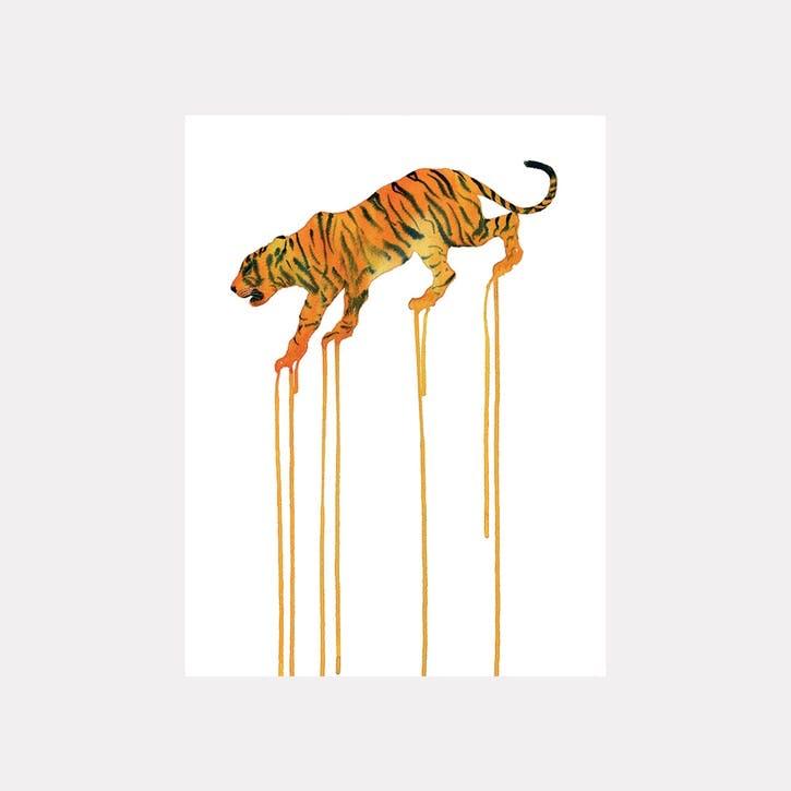 Oliver Flores Tiger Canvas Print - 80 x 60cm