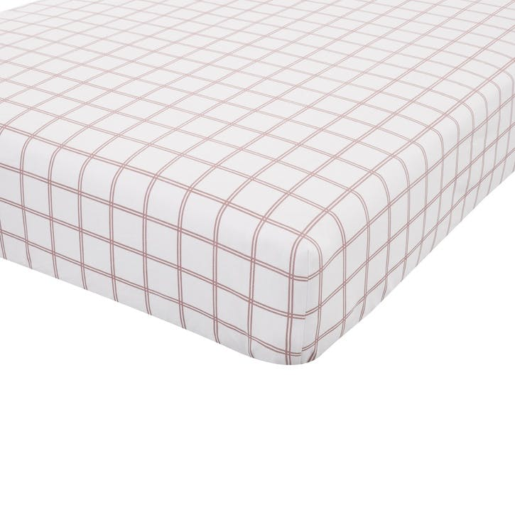 Brushed Tartan Check Double Fitted Sheet