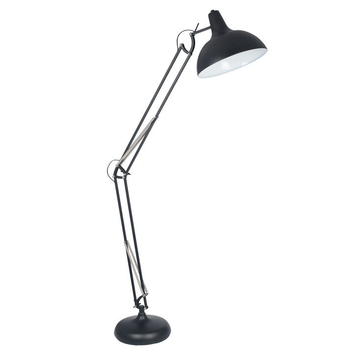 Hamilton Oversized Task Floor Light; Matt Black