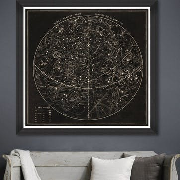 Visible Heavens Black Framed Print,90 x 90cm