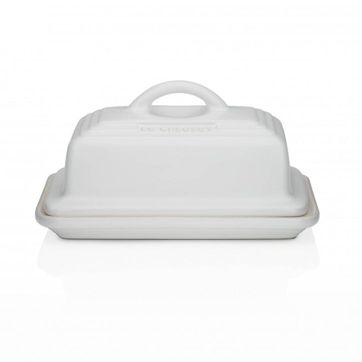 Stoneware Butter Dish; Cotton