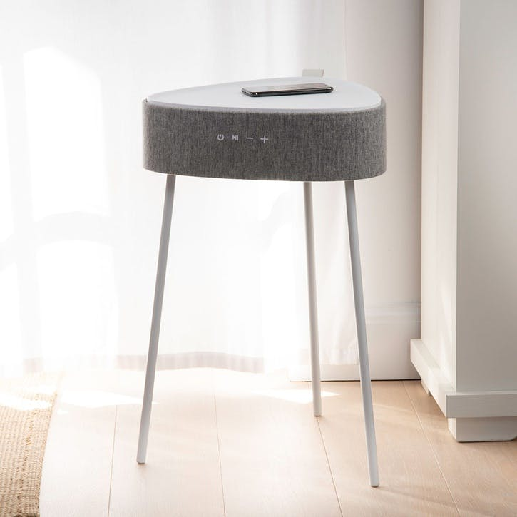 Riva Smart Side Table, White