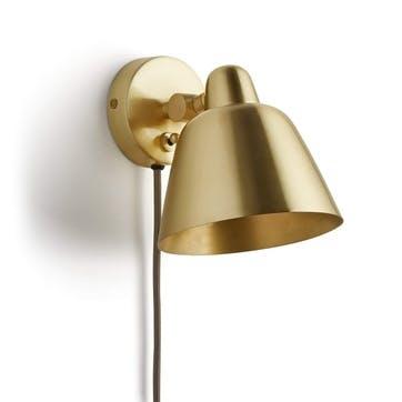 Brass Geo Wall Light