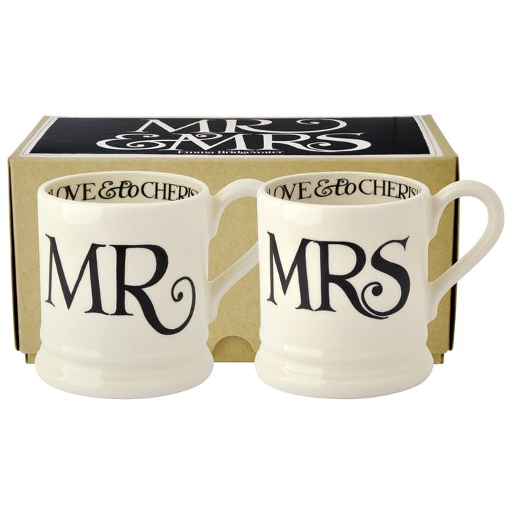 Mr & Mrs Mugs, Set of 2