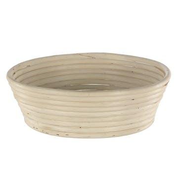 Natural Cane Angled Round Banneton Basket, 28cm