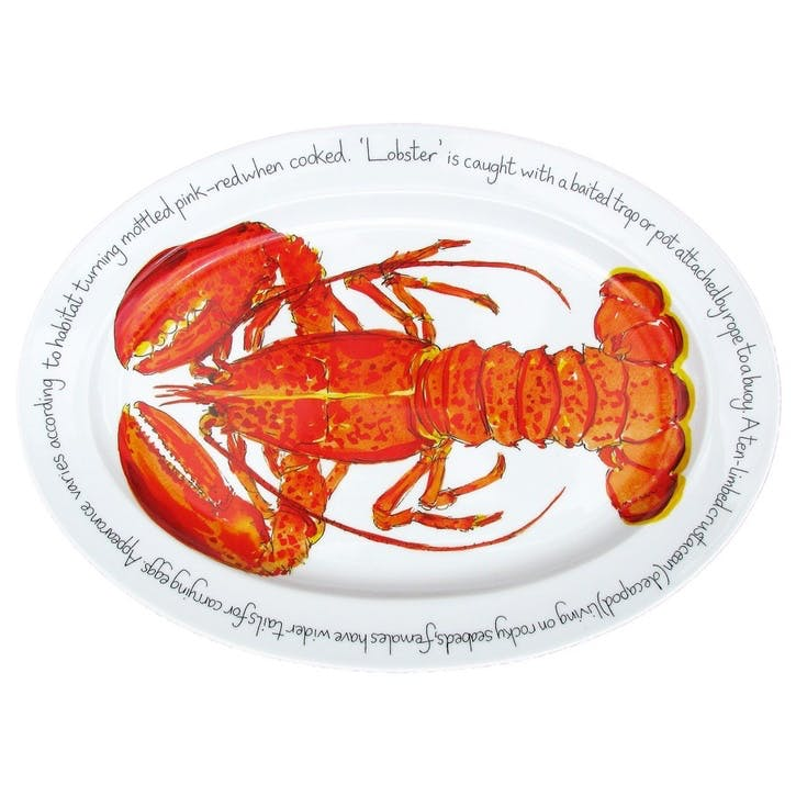 Red Lobster Oval Plate - 39cm