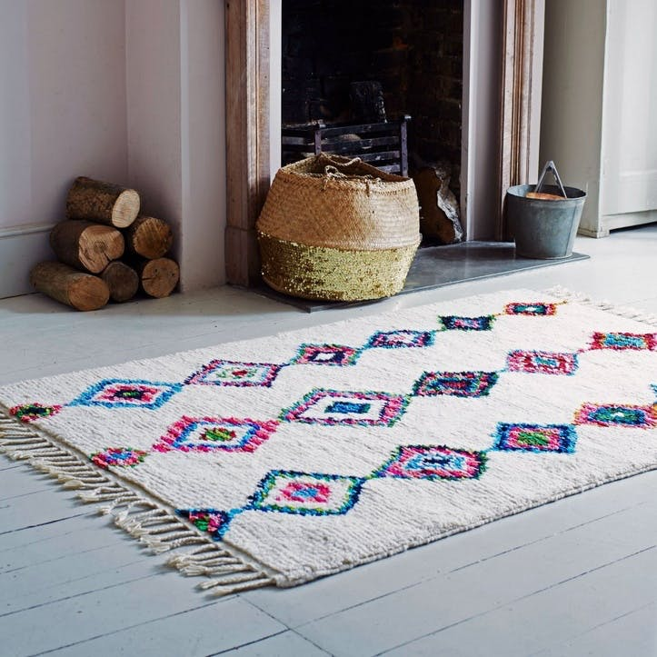 Colourful Hand-knotted Rug
