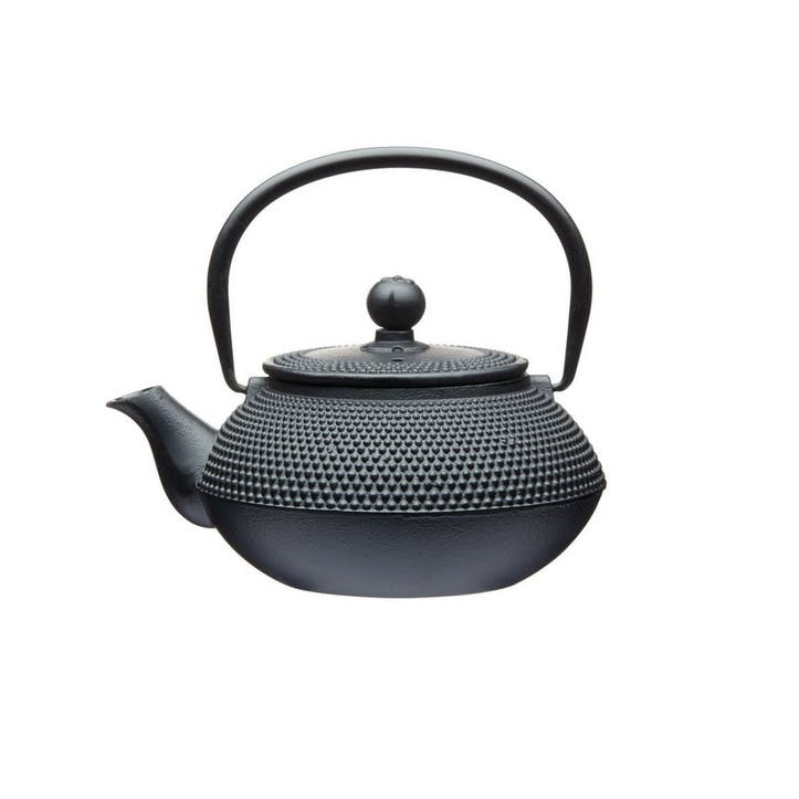 Cast Iron Infuser Teapot, 600ml; Black