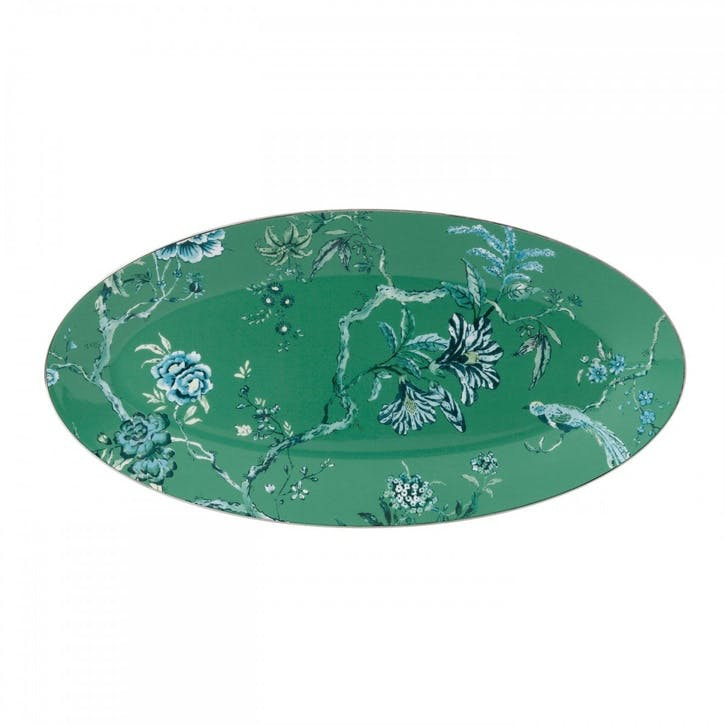 Chinoiserie Oval Platter, Medium, Green