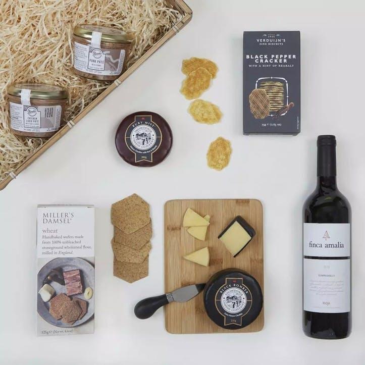 Classic Wine, Cheese & Pate Hamper