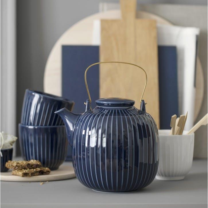 Hammershøi Teapot, Indigo