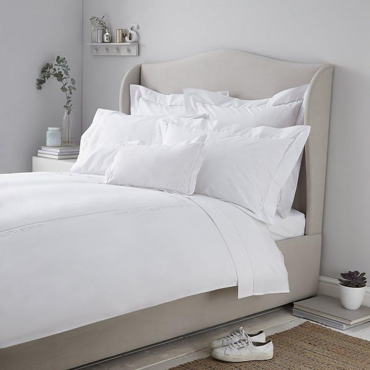 Adeline Duvet Cover, Double, White