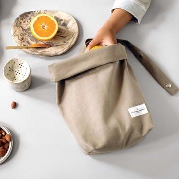 Canvas Lunch Bag, L30 x W39cm, Clay