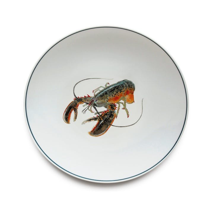 Seaflower American Lobster Dinner Plate, 28cm, Multi