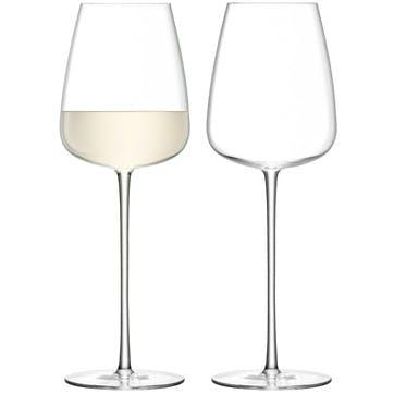 Wine Culture Set of 2 White Wine Glasses; 490ml
