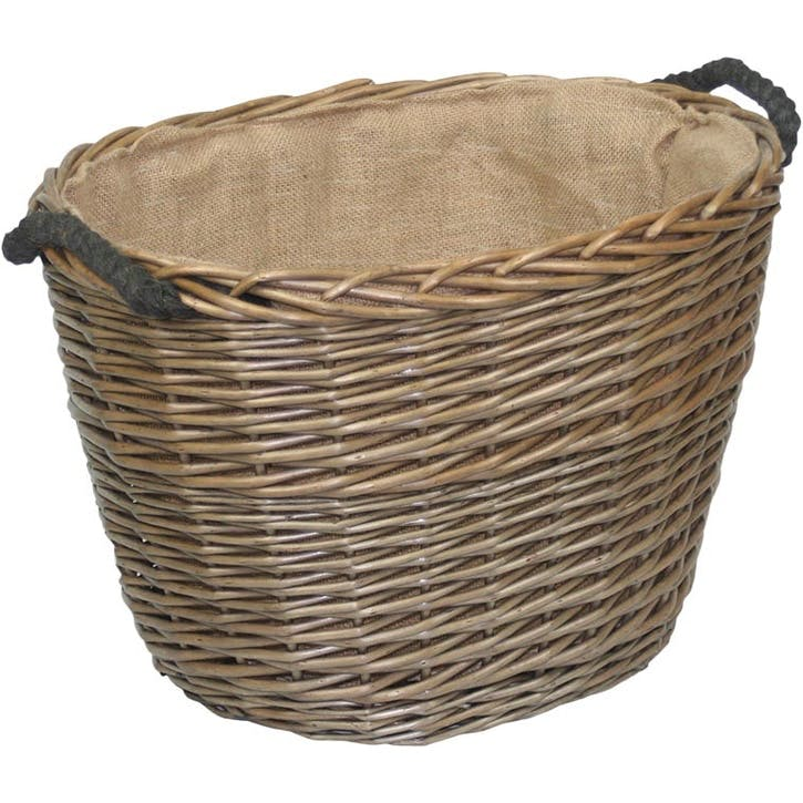 Oval Log Basket, Medium