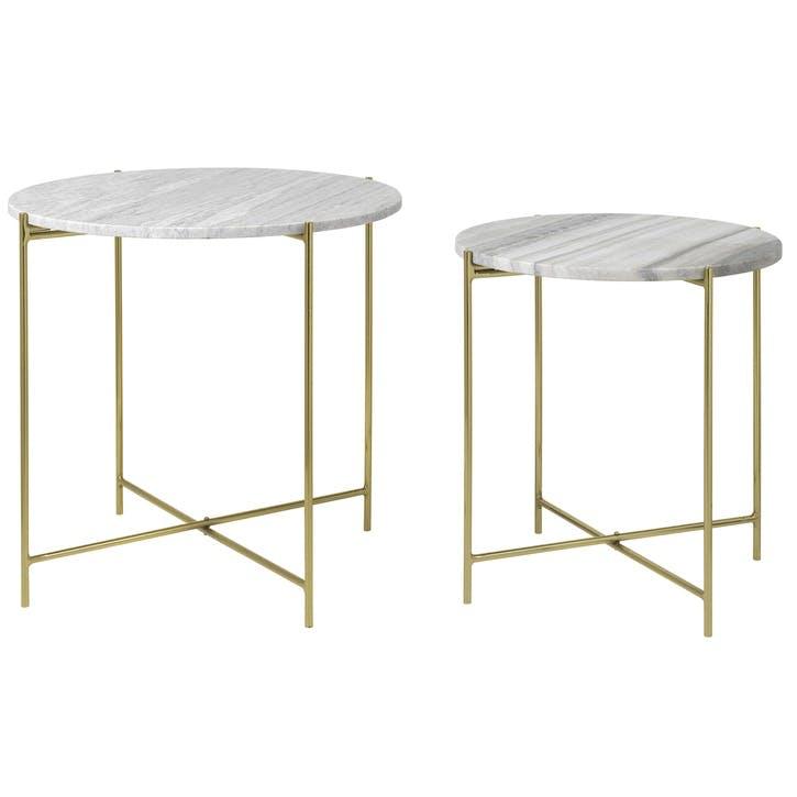 Freja Marble Table, Set of 2, Beige