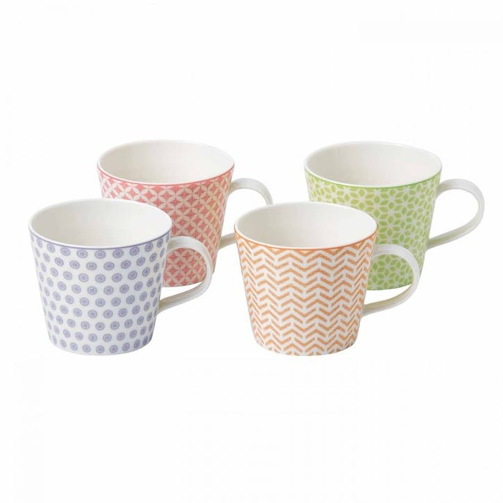 Pastels Accent Mugs, Set of 4