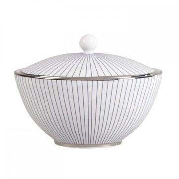 Pin Stripe Sugar Pot