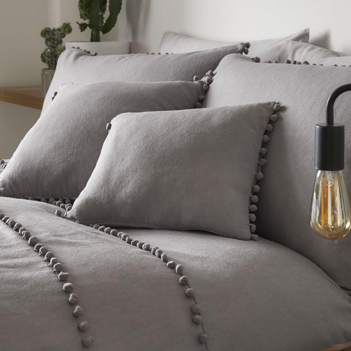 Paignton Cushion Cover, 43 x 43cm, Slate