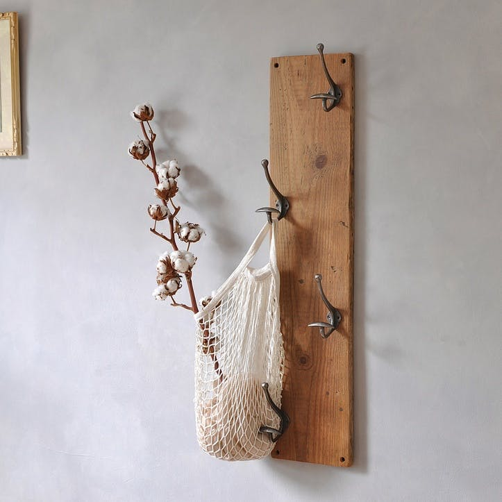Reclaimed Vertical Coat Hook - 80 x 18cm; Natural