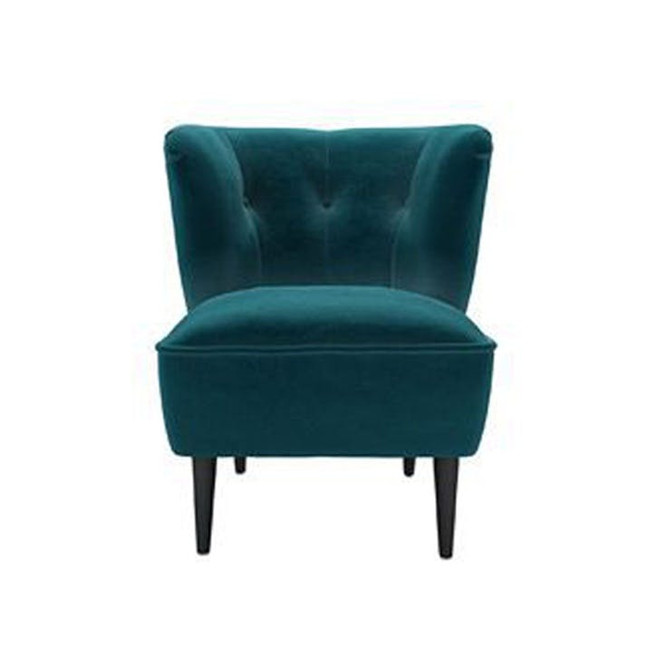 The Betty, Deep Turquoise Cotton Matt Velvet