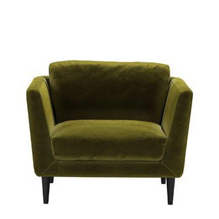 Holly Armchair, Olive Cotton Matt Velvet
