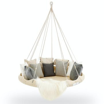 TiiPii Nomad Hanging Bed - 1.5m; Natural White