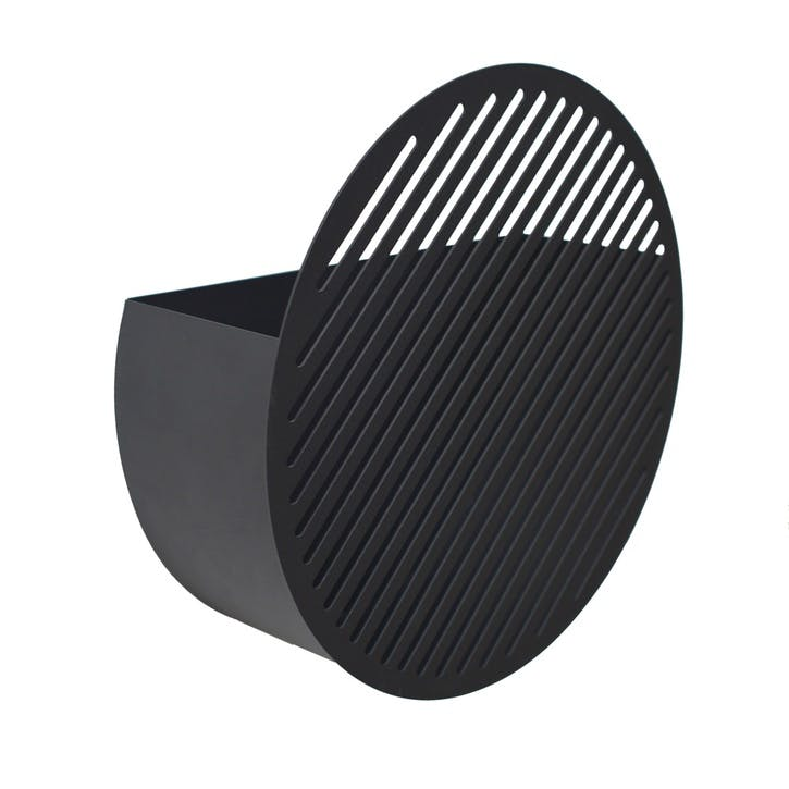Diagonal, Large Wall Basket, Black