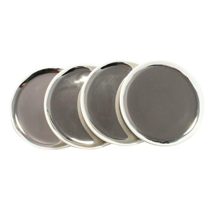 Dauville Coasters, Set of 4, Platinum