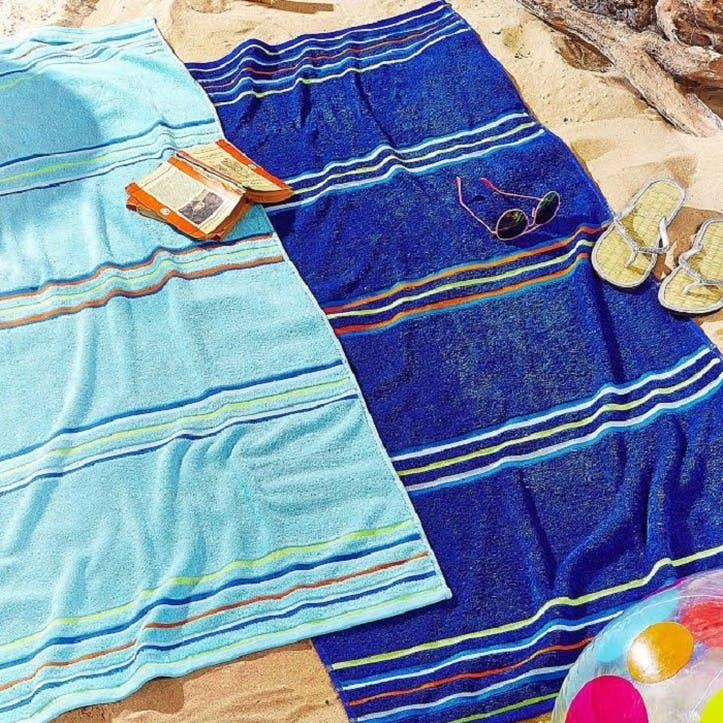 Rainbow Beach Towels Set, Blue
