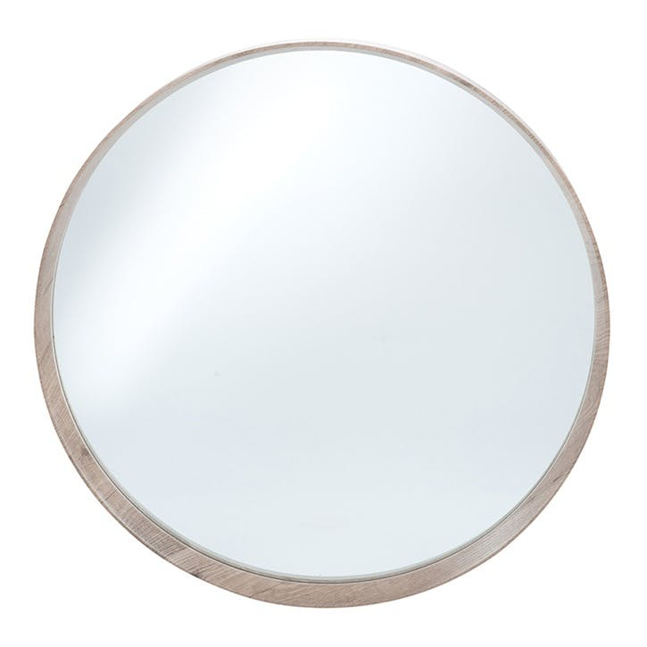 Arlo Round Mirror, 74cm, Natural